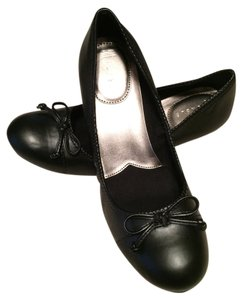 Nickels Flat Ballet Black Wedges