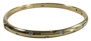 Tiffany & Co. TIFFANY & CO ETOILE 18KT YELLOW GOLD PLATINUM 10 DIAMOND BRACELET