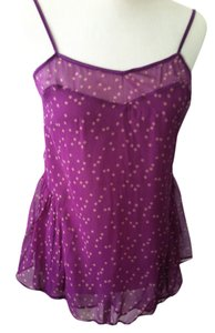 Stella McCartney Camisole Party Boho Date Night Top purple with yellow stars