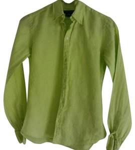 Ralph Lauren Bamboo Button Down Shirt Light Green