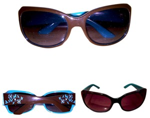 Unknown Fabulous Brown And Aqua Sunglasses