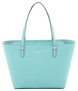 Kate Spade Baby Sky Leather Pastel Leather Tiffany Tote in Celeste Blue