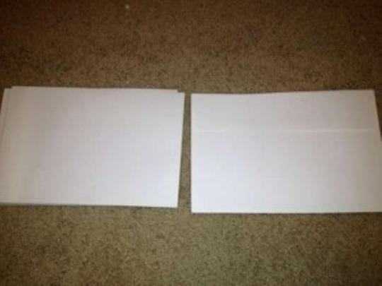 85 White Envelopes