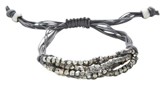 Shashi Five Row Silver Faceted Nugget Bracelet