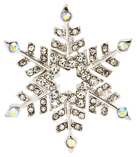 Other crystal snowflake pin