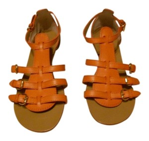 Giuseppe Zanotti Handsome Design Orange Sandals