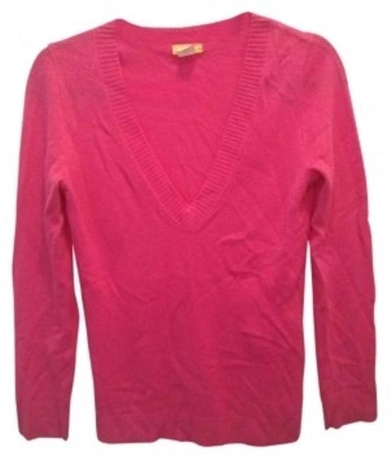 Preload https://item4.tradesy.com/images/jcrew-hot-pink-cashmere-sweaterpullover-size-2-xs-147053-0-0.jpg?width=400&height=650