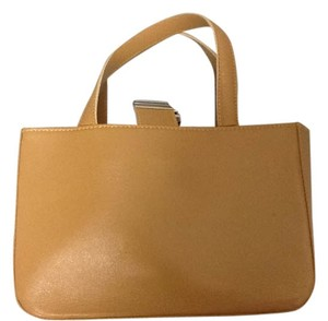 Brooks Brothers Leather Adorable Tote in Beige