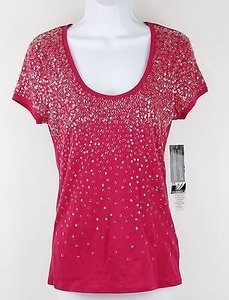 Nine West Poptamistic T Shirt Framboise (Raspberry)
