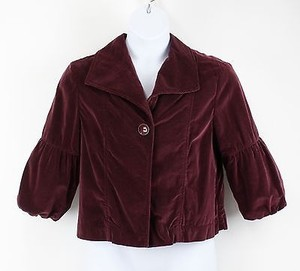Sonoma Burgundy Vevelteen 34 Bubble Sleeve Swing B55 Jacket