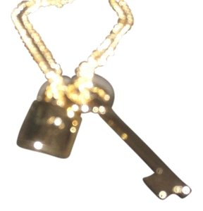 Victoria's Secret Victoria's Secret Gold Plated Key And Lock Necklace One Size