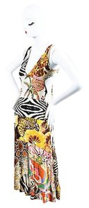 Just Cavalli short dress Multi-Color White on Tradesy