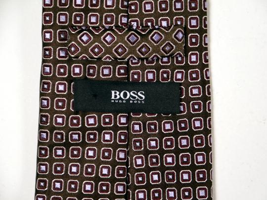 Hugo Boss Hugo Boss 100% Silk Necktie Chocolate and Blue: MSRP $120