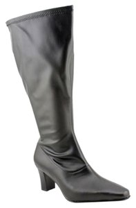david tate Extra Wide Calf Black Boots