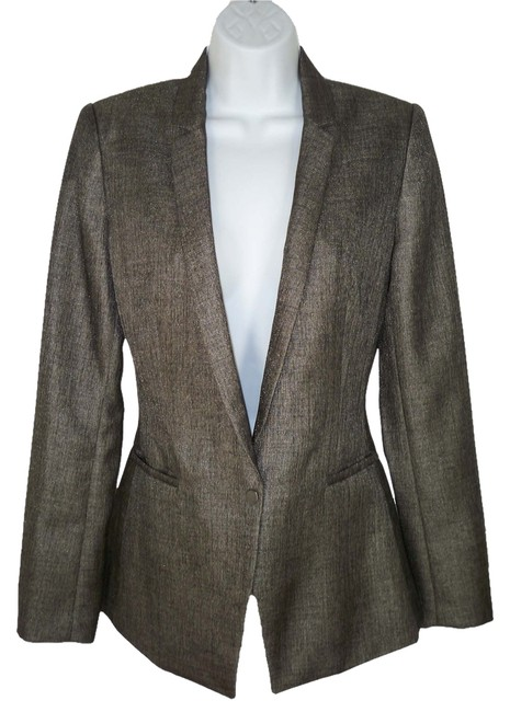 Elie Tahari Wool Sleek Sheen Blazer