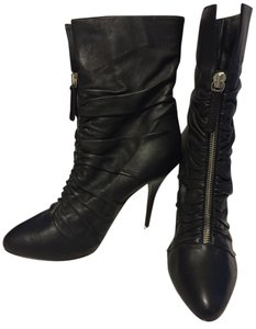 Giuseppe Zanotti Italian Leather Stiletto Ankle Black Boots