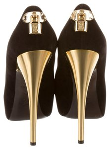 Louis Vuitton Peep Toe Oh Really Black, Gold Pumps
