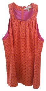 Banana Republic Halter Print Summer Spring Top Orange pink