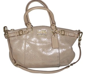 Coach Satchel in Gold Shimmer