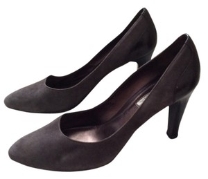 Via Spiga Suede Heel Grey Pumps