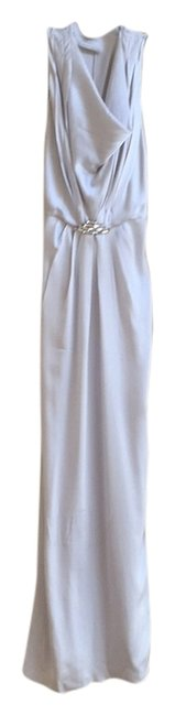 Item - Silver Long Cocktail Dress Size 2 (XS)
