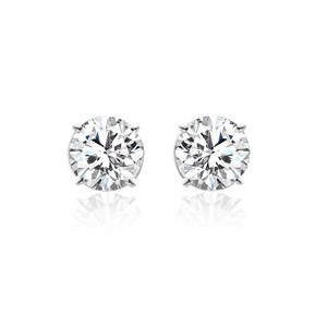 Avital & Co Jewelry 2.03 Carat Round Brilliant Cut Diamond Stud Earrings 14k White Gold