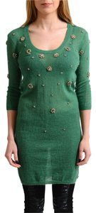 John Galliano short dress Green on Tradesy