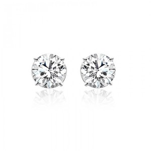 Avital & Co Jewelry 14k White Gold 2.38 Carat Round Brilliant Cut Diamond Stud Earrings