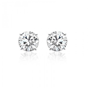 Avital & Co Jewelry 3.54 Carat Brilliant Round Cut Diamond Stud Earrings 14k White Gold