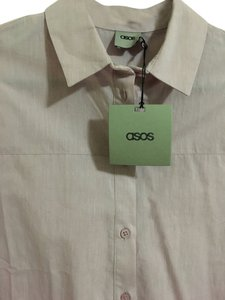 ASOS Lavender Button Down Shirt Light Lavender