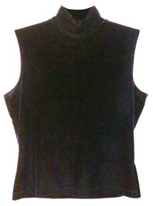 Tapemeasure Fitted Mock Neck Top Black