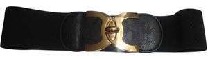 Other New Stretchy Black & Gold Belt Thick Chunky P2017