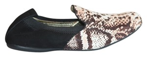 Yosi Samra Black, Brown and White Cow Fur Flats