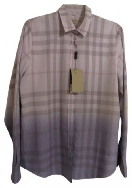 Preload https://item5.tradesy.com/images/burberry-lavender-and-taupegrey-plead-blouse-size-14-l-14709-0-0.jpg?width=400&height=650