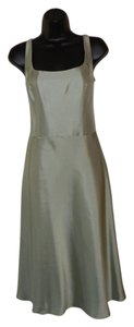 Ann Taylor Green Lined Tank Silk Dress
