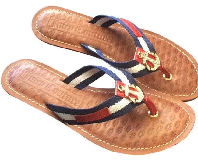 Item - Red White and Blue Sandals Size US 8 Regular (M, B)