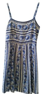 Ann Taylor LOFT short dress Blue and White Spring Summer Empire Waist on Tradesy