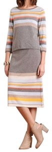 Anthropologie Striped Midi Pullover and Sweater Skirt Set Sz M