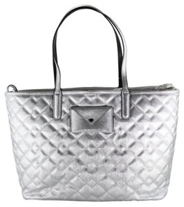 Marc by Marc Jacobs Quilted Tote in Silver
