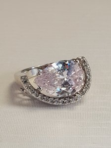Other Gorgeous Radiant CZ Crescent Style Size 7