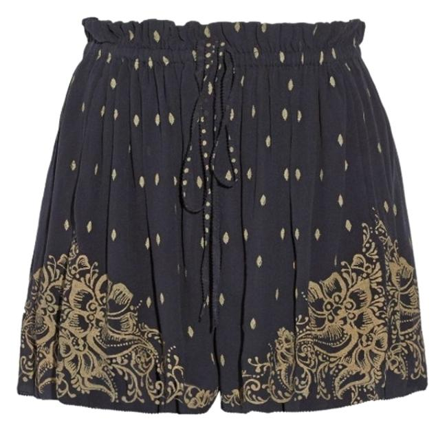 Item - Black and Gold Richie Shorts Size 4 (S, 27)