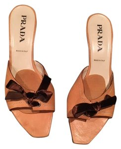 Prada Kitten Heels Heels Tan Pumps
