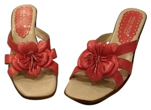 Mila Paoli Made In Italy Open Toe Pretty Girly Chic Causual Pink Wedges