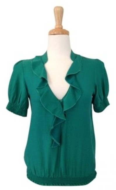 Preload https://item5.tradesy.com/images/anthropologie-green-sanctuary-clothing-sammy-blousernstyle-6502-t25rnruffle-front-smocked-sleeves-an-147109-0-0.jpg?width=400&height=650