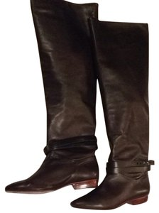 Pour La Victoire Brown Soft Leather Napa Chocolate Boots
