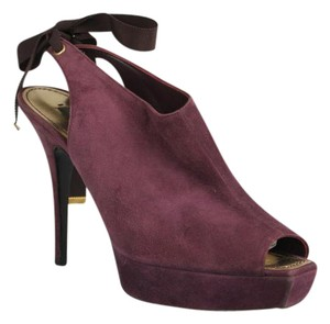 Louis Vuitton Suede Pump Sexy Pump Seasonal Collection Modern Chic Purple Suede Boots