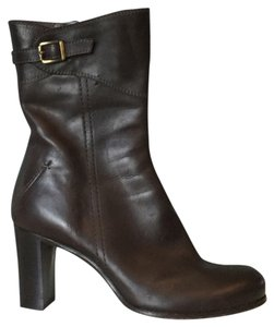 CoSTUME NATIONAL Brown Leather Boots