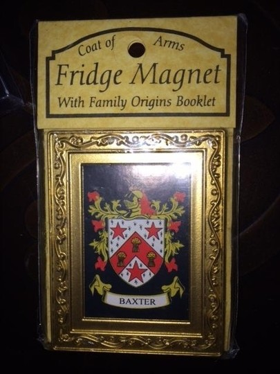 Other Baxter family crest Lot of 3 Key Chain Bookmark Refrigerator Magnet