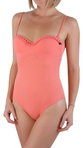 Emporio Armani Emporio Armani Luxury One Piece Swimsuit Bandeau Bikini Coral IT 42
