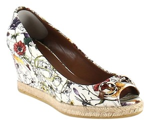 Gucci FLORAL PRINT Wedges